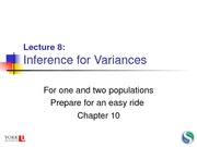 35 Lecture 8 - Inference for Variances