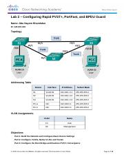 Lab 2 - Configuring Rapid PVST , PortFast, and BPDU Guard(1).docx