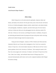 Artist research paper sample