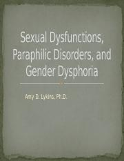 Week 7, Sexual and Paraphilic Disorders, and Gender Dysphoria.pptx
