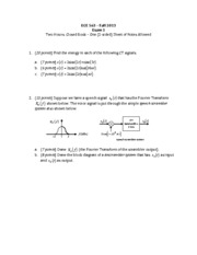 ECE 563 Exam 1 with Solutions