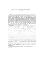 Fourier series lecture notes