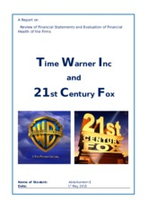 Time Warner and 21st Centuary Fox-Assignment.docx