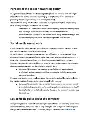 Password policy password policy template employees at company xyz 2 pages social media policy maxwellsz