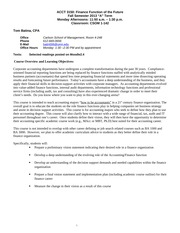 Role of the Accountant Fall 2013 Syllabus