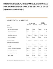 Balance Sheet Horizantal Analysis_Solutions