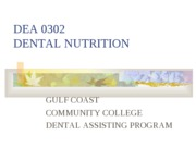 Dental Nutrition Units 1-3