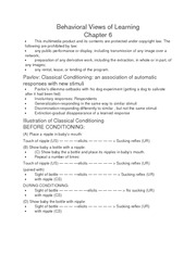 Behavioral Views of Learning ch 6 notes