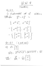 Homework 8 on Linear Algebra Fall 2014