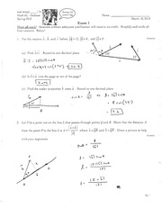 MATH 5c Spring 2013 Exam 1 Version 2 Solutions