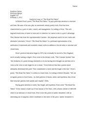 analytical essay