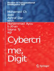 (Studies in Computational Intelligence 593) Mohamed Chawki, Ashraf Darwish, Mohammad Ayoub Khan, Sap
