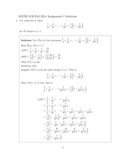 MATH 3120 Fall 2014 Assignment 1 Solutions