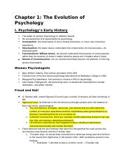 Chapter 1 Outline Psychology.docx