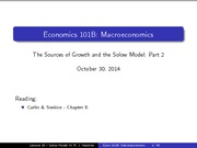 Lecture 18 - The Sources of Growth and the Solow Model III