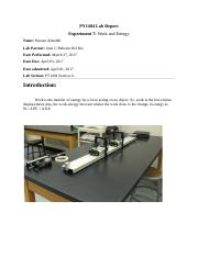PY1404 Lab Report Experiment 7