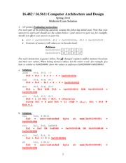 Midterm Exam Solution Spring 2014