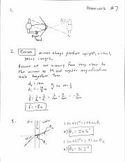 HW #7 solutions