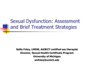 Lecture 3 Treating Sexual Dysfucntion