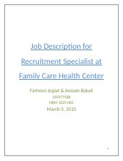 Job-Description-for-Recruitment-Specialist-at-Family-Care-Health-Center-Annam and Farheen