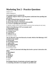 Marketing Test 2