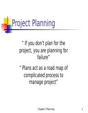 ch05 project planning.ppt