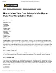 How to Make Your Own Rubber Mallet _ DoItYourself.pdf