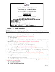 2014 Additional Exam SOLUTION