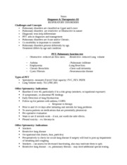 Notes Diagnoses & Therapeutics III RESPIRATORY DISORDERS 1