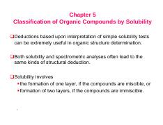Solubility of Organic Compounds
