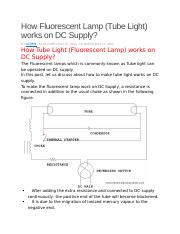 Fluorescent Lamp on DC.docx