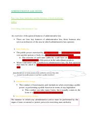 Administrative Law Unit 1+ 2 Notes.docx