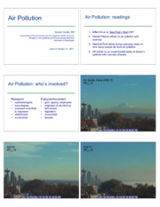 Air Pollution Lecture Slides