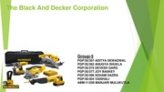 Black and Decker Group 5