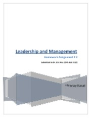 Leadership and Management HW 2