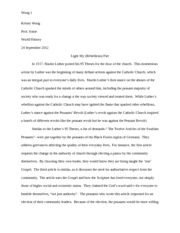 world history primary doc paper martin luther