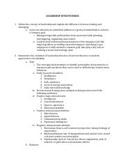 Learning Objectives Leadership.docx