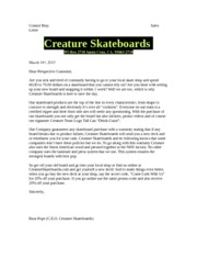 Connor Bray Sales Letter