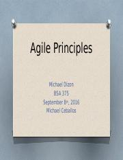 Michael Dizon BSA 375 Week 1 Agile Principles.pptx