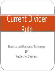 Current Divider Rule (10 Grade).pptx