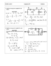 EE 240 Assignment  (8) Solution