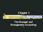 Cost Accounting - PowerPoint - Chapter 1 - Introduction