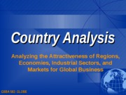Country & Institutional Analysis