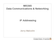 MIS365 7 - IP Addressing