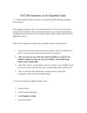 4.02 ThE Anatomy of an Argument Quiz.rtf