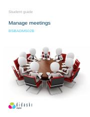 BSBADM502 - Manage meetings - Learner  Guide.pdf