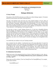 Dialogue Reflection Essay Guidelines