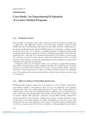 14. Case Study_ An Experimental Evaluation of a Labor Market Program.pdf