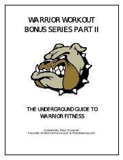 Warrior Workout Bonus Series II