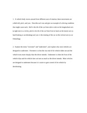 essay 1 steering and suspension